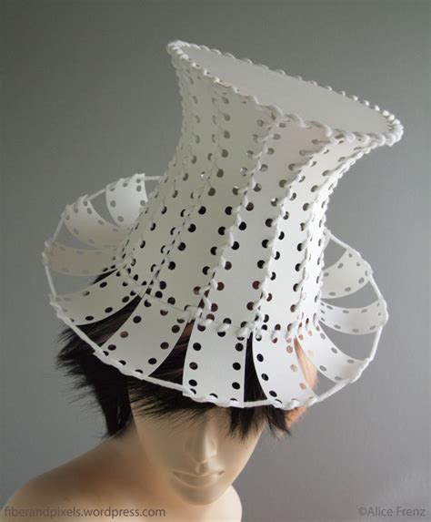 design a hat sewing card top hat fiber and pixels