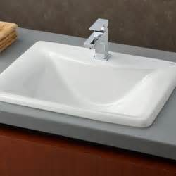 Pedestal Sinks For Small Bathrooms by Drop In Large Rectangular Bathroom Sink Useful Reviews