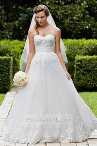 elegant a line sweetheart appliqued tulle wedding dress With wedding dress philippines