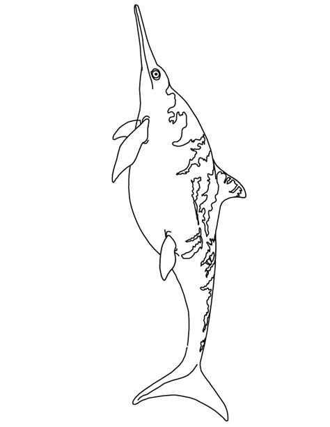 ichthyosaurus dinosaur coloring page   coloring pages