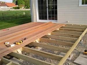 terrasse bois construire With construire sa terrasse bois
