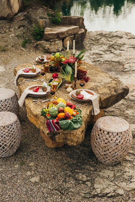Bohemian outdoor wedding inspiration Fall wedding 100