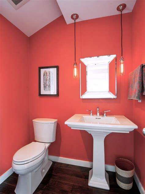 Coral Color Bathroom Decor by Coral Bathroom Home Design Ideas Pictures Remodel And Decor
