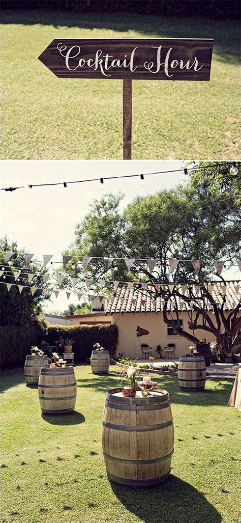 country wedding ideas  great ways   wine barrels