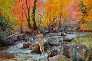 Crystal Clear Creek Painting by Eric Kent Wallis
