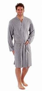 Mens robe dressing gown kimono cotton bathrobe 40 42 44 46 for Robe 44