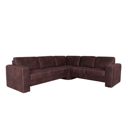 canapé d angle marron canap 233 d angle fixe contemporain en tissu marron brice