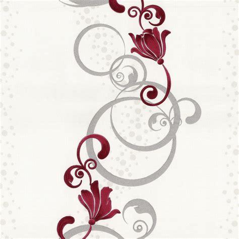 tapete rot grau tapete blumen design rot grau vliestapete p s easy 13287 20 2 10 1qm ebay