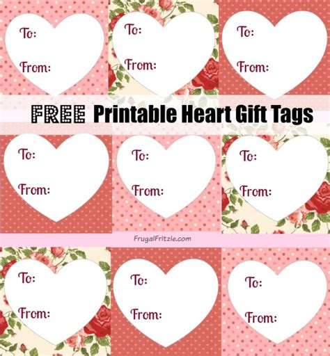 printable heart gift tags love quotes  valentines