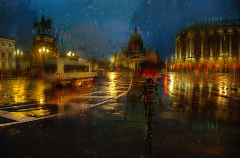 lovely rainy day     oil paintings