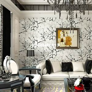 Wallpaper Living Room Tv Wall Background Wall Black And ...