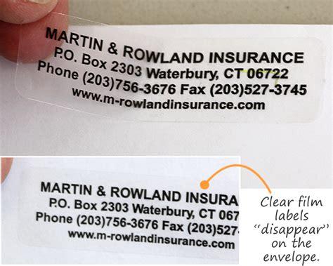 design return address labels