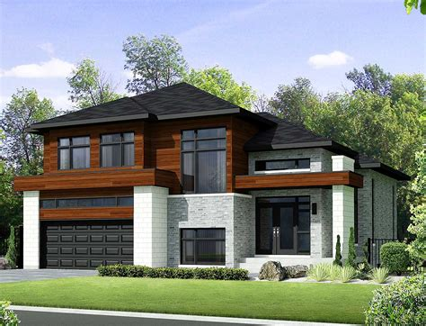 contemporary house plan two story contemporary house plan 80851pm