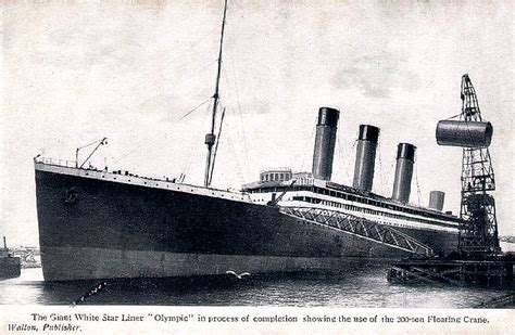 Port Side Of Boat Is What Color by White Line Rms Olympic The Sucsessful Story