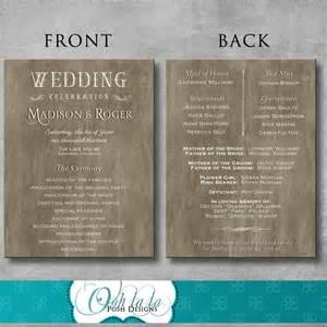 wedding fan program template free rustic wedding program diy by oohlalaposhdesigns