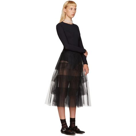 sheer a line midi skirt tiered layered skirt a line length midi skirt
