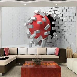 Large Custom Mural Wallpaper Modern Abstract 3D ...