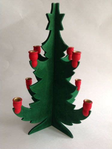 swedish wooden christmas tree candle holder 12 quot tall