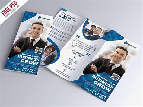 Adobe Photoshop Brochure Templates by Tri Fold Corporate Brochure Template Psd