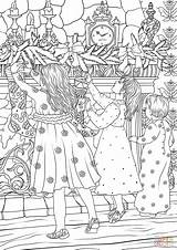Coloring Chimney Stocking Children Hanging Hunging Before Printable Magic sketch template
