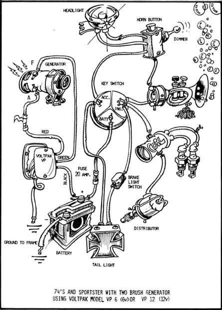 Image Result For Simple Harley Chopper Generator Wiring