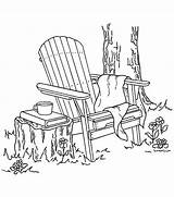Adirondack Coloring Stamps Chair Stamp Rubber Adult Clipart Colouring Printable Antics Chairs Patterns Inky Stained Glass Mounted Digital Drawings Joann sketch template