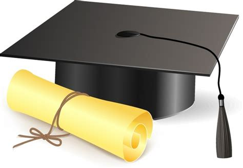 Graduation Cap And Scroll Clip Art