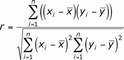 Correlation Pearson Coefficient Formula Sample Data
