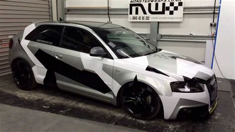 camo wrapped monsterwraps audi  air lift performance air
