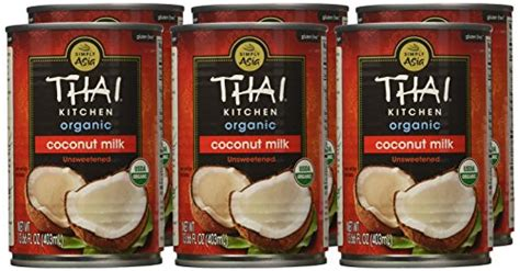thai kitchen organic coconut milk thai kitchen organic coconut milk 13 66 oz pack of 6 8446