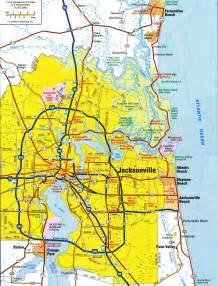 Jacksonville FL Area Map