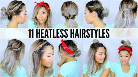 11 EASY HEATLESS HAIRSTYLES FOR SHORT & LONG HAIR Under
