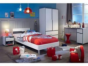 Chambre Enfant Conforama : armoire 2 portes 2 tiroirs moby coloris blanc gris vente ~ Melissatoandfro.com Idées de Décoration