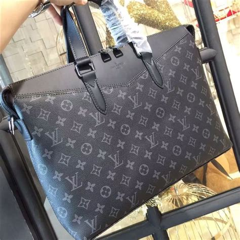louis vuitton briefcase explorer eclipse monogram aaa handbag