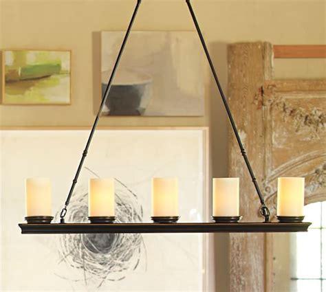veranda linear chandelier pottery barn