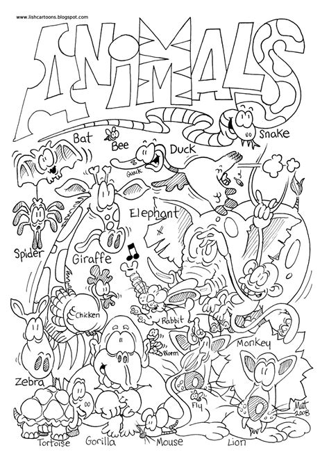 Coloring Zoo by Creatures Of The Air Coloring Poages