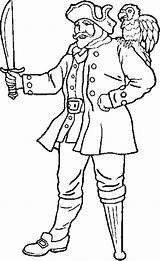 Pirate Leg Peg Coloring Pages Legged Template Am sketch template
