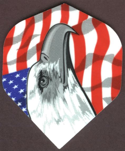 american flag  eagle dart flights   set ebay