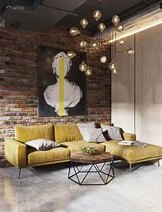 Industrial, Living, Room, Apartment, Design, Ideas, U0026, Photos, Malaysia