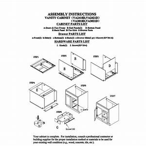 Ghi 24 U0026quot  And 30 U0026quot  With Drawers Cabinet Instructions