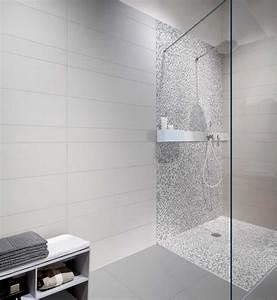 Salle De Bain Carrelage Noir : carrelage de salle bain aspect inspirations avec carrelage ~ Dailycaller-alerts.com Idées de Décoration