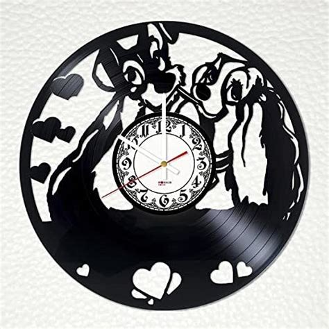 amazoncom lady   tramp vinyl record wall clock