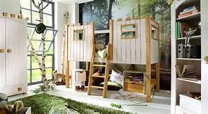 Hochbett Mit Zwei Betten : kinderhochbett als ritterburg aus holz kids paradise ~ Whattoseeinmadrid.com Haus und Dekorationen