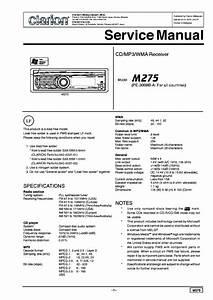 Clarion M275 Service Manual Download  Schematics  Eeprom