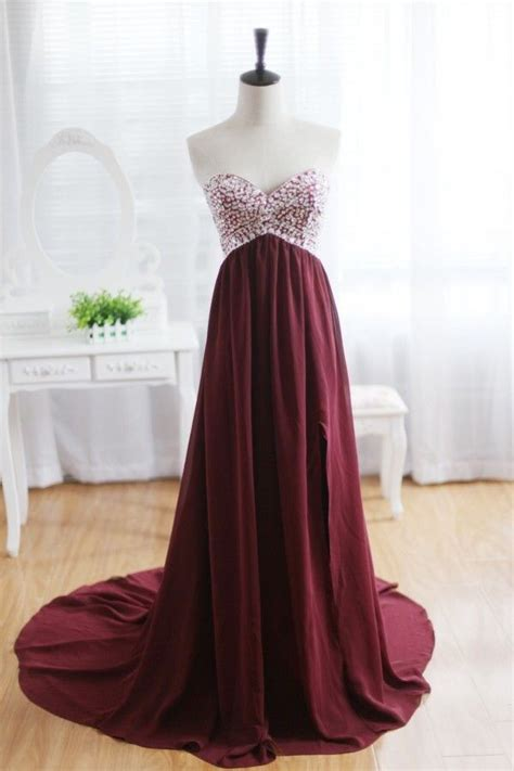 custom wine red sleeveless strapless formal sweetheart