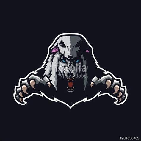 wolf  sheep clothing esport gaming mascot logo template