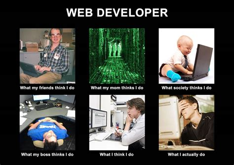Web Developer Meme - image 251275 what people think i do what i really do know your meme