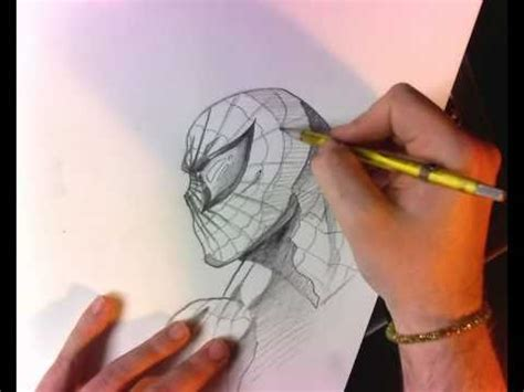 spiderman face tutorial real time pencils youtube