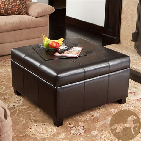 Best Deals On Ottomans by Christopher Home Richmond Espresso Bonded Leather