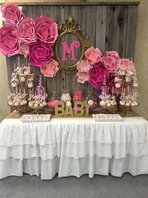 modern baby shower decorations    sock rose
